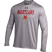 Under Armour Men's Maryland Terrapins Grey Long Sleeve Basketball T-Shirt