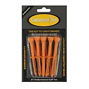 Consistent-Tee 3.25' Orange Golf Tees – 10-Pack
